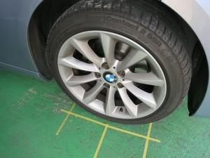 BMW320ホイール入庫時