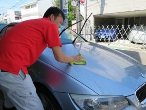 BMW320シャンプー洗車
